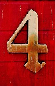 4 - četiri - number four in Serbian