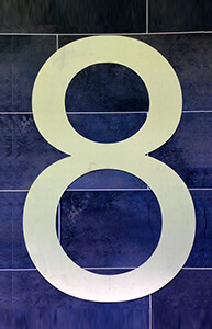8 – osam – number eight in Serbian