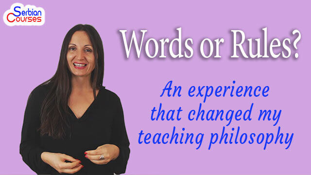 Words or Rules? An experience that changed my teaching philosophy